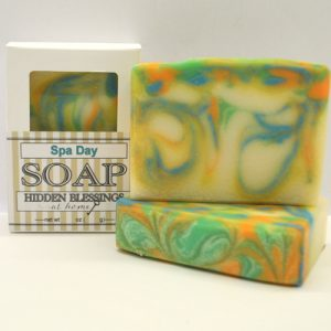 Handmade soap scented with a lovely spa fragrance.