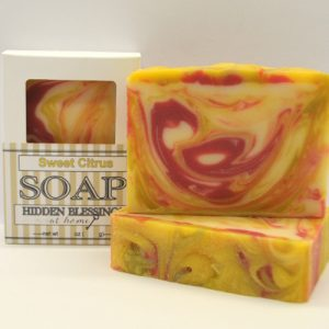 Handmade Soap scented with several citrus scents.