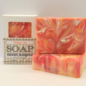 Handmade Soap scented Sweet Orange and Peppermint.