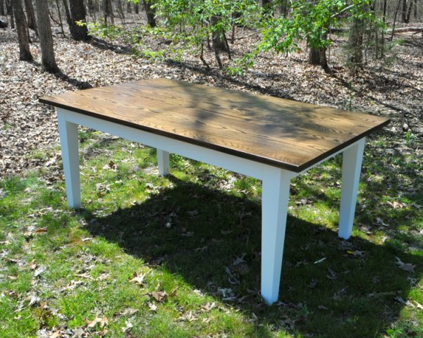 Espresso Oak Farm Table