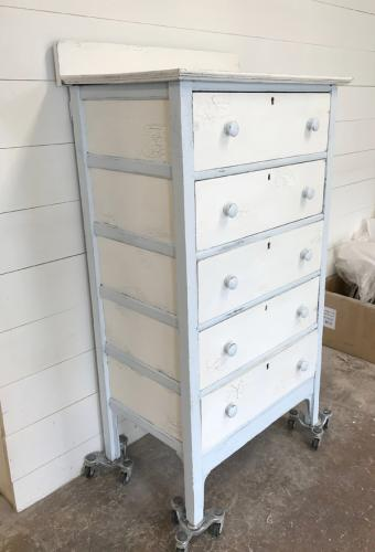 Crackle Blue and White Chest of Drawers