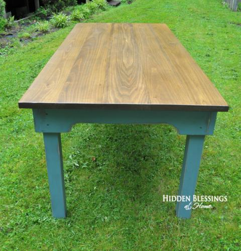 Poplar Primitive Farm Table